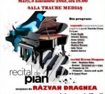 Mediaș: Concert de pian susținut de Răzvan Victor Dragnea