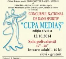 Concursul Naţional de Dans Sportiv ,,Cupa Mediaş'' se va desfășura duminică