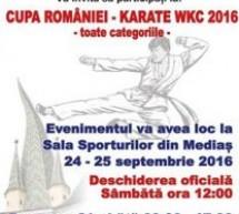 Municipiul Mediaș găzduiește Cupa României la karate WKC (24-25 septembrie)