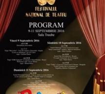 Festival Naţional de Teatru, la Mediaş (9-11 septembrie)