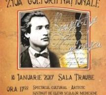 Ziua Culturii Naționale la Mediaș – ,,Regăsește-l pe Eminescu'' (16 ianuarie, ora 17)