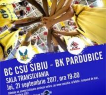 CSU Sibiu debutează joi în FIBA Europe Cup