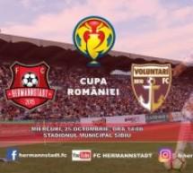FC Hermannstadt întâlnește FC Voluntari în Cupa României