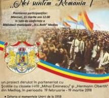 """""""Noi suntem România"""", la Biblioteca Municipală ,,St. L. Roth"""" Mediaș"""