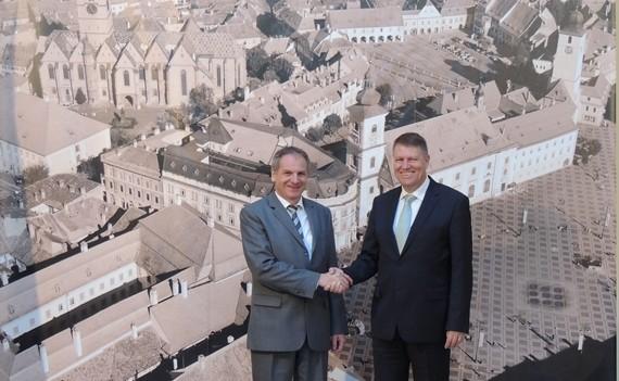 Ministrul de interne al landului Baden Württemberg, în vizită la Primăria Sibiu