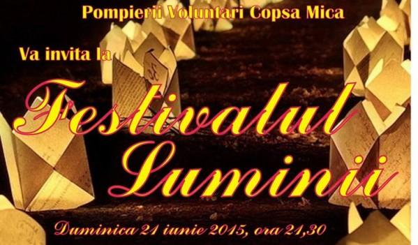 Prima ediție a Festivalului Luminii se va desfășura în Copșa Mică (duminică, 21 iunie)
