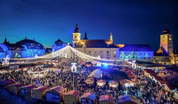 Târgul de Crăciun din Sibiu își va deschide vineri porțile