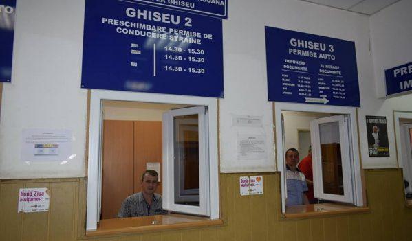 Ghișeele serviciilor Permise și Pașapoarte Sibiu, deschise în 16 și 17 august