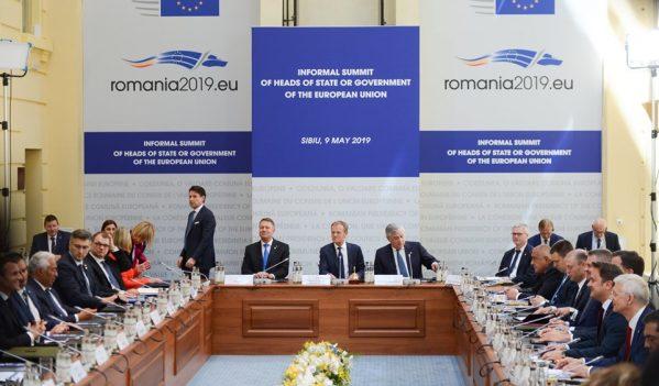 Summitul șefilor de stat și guvern din Uniunea Europeană se desfășoară în Sibiu