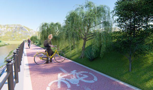 Piste de biciclete pe maul Cibinului