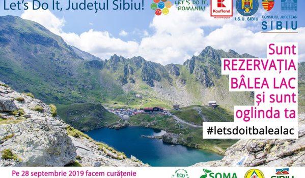 Consiliul Județean Sibiu la Bâlea Lac, cu ocazia Zilei Naționale de Curățenie
