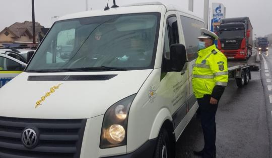 Acțiuni de verificare a transportului rutier în județul Sibiu